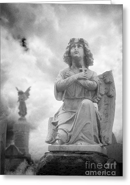 Black Cemetery Greeting Cards - Necropolis 11 Greeting Card by Colin and Linda McKie