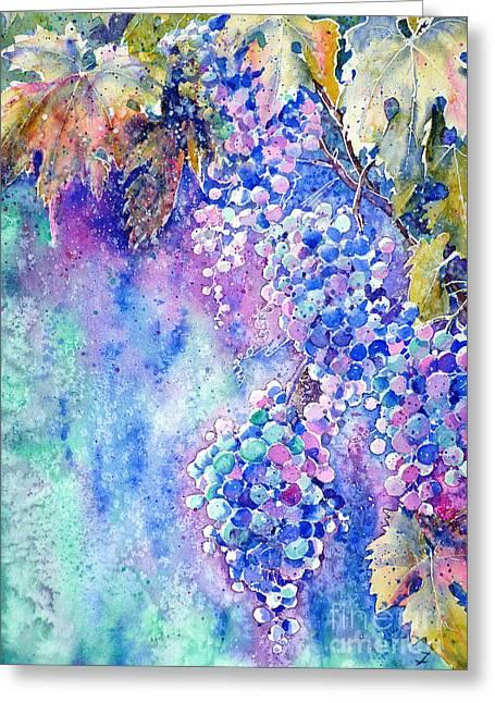 Bunch Of Grapes Greeting Cards - Nectar of Nature Greeting Card by Zaira Dzhaubaeva