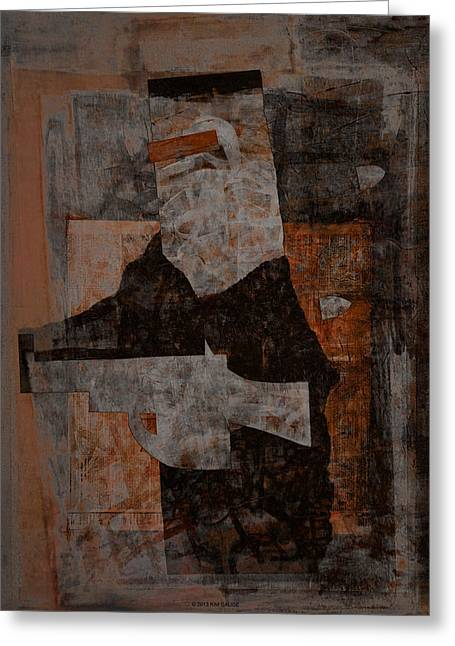 Kelly Mixed Media Greeting Cards - Ned Kelly #9 Greeting Card by Kim Gauge
