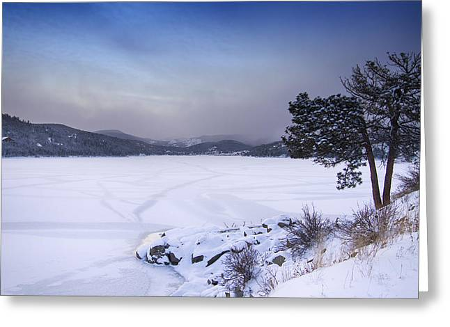 Barker Greeting Cards - Nederland Colorado Barker Reservoir Winter Scenic View Greeting Card by James BO  Insogna