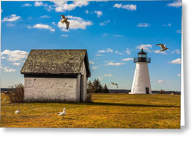 Ned's Point Lighthouse Greeting Card by Dean Martin