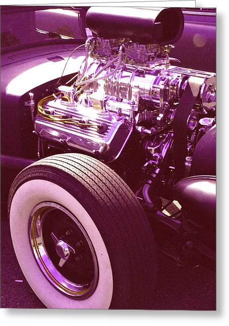 Purple V8 Greeting Cards - Need for Speed Greeting Card by Fred Knopp