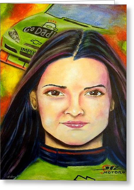Danica Patrick Racing Greeting Cards - Need for speed Greeting Card by Michael Alvarez