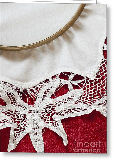 Needlepoint Greeting Cards - Needlepoint Beginnings Greeting Card by Margie Hurwich