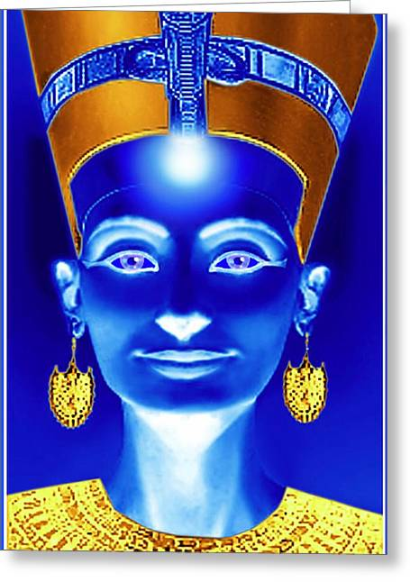 Ancient Earrings Greeting Cards - Nefertiti Greeting Card by Hartmut Jager