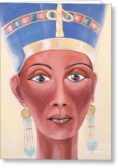 Photo Art Gallery Paintings Greeting Cards - Nefertiti. Sweet of Love Greeting Card by Oksana Semenchenko