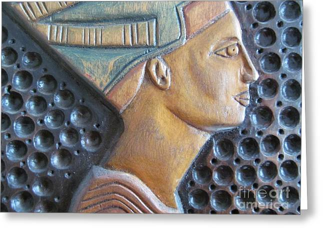 Greek Sculpture Greeting Cards - Queen Nefertiti Greeting Card by Tina M Wenger