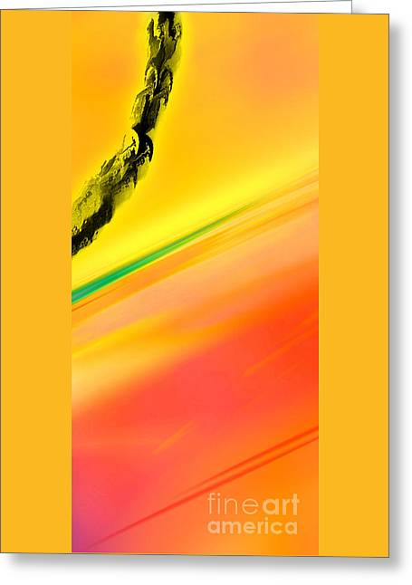 Abstract Digital Drawings Greeting Cards - Negative Dawn - Panel II Greeting Card by Paul Davenport