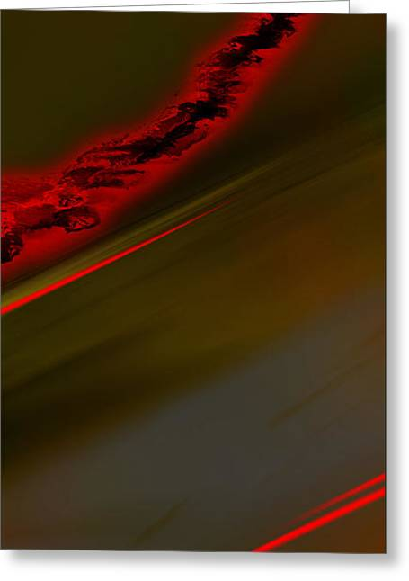Abstract Digital Drawings Greeting Cards - Negative Dusk - Panel II Greeting Card by Paul Davenport