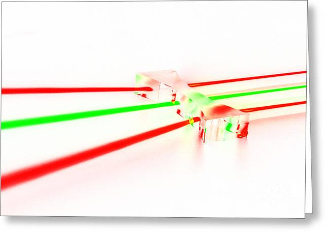 Negative Effect Greeting Cards - Negative Lens Light Propagation Greeting Card by GIPhotoStock