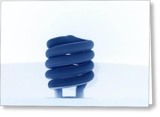 Florescent Lights Greeting Cards - Negative Radiance Greeting Card by Robin Davis