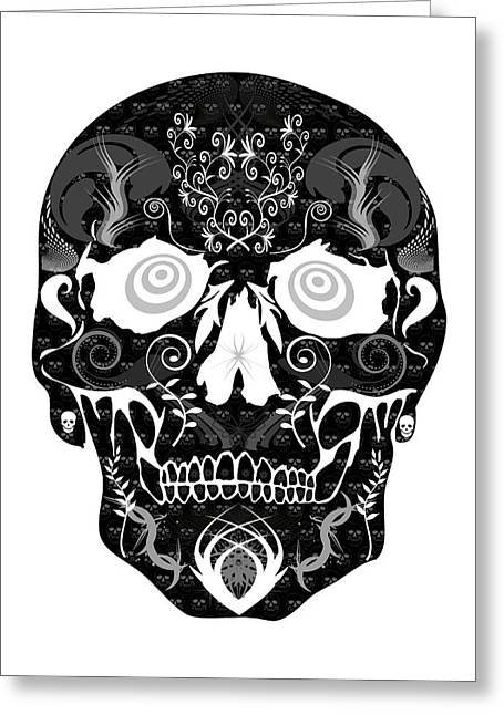 Scull Greeting Cards Greeting Cards - Dark Skull Greeting Card by Mauro Celotti