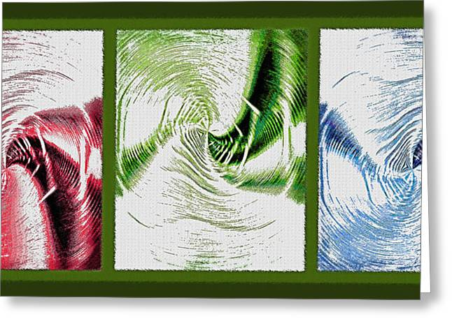 Inversion Greeting Cards - Negative Space Triptych - Inverted Greeting Card by Steve Ohlsen