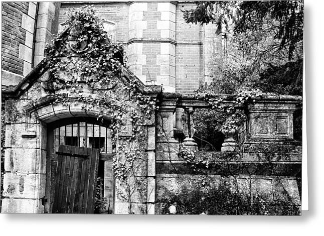Abandoned Houses Greeting Cards - Neglected Grandeur Greeting Card by Nomad Art And  Design