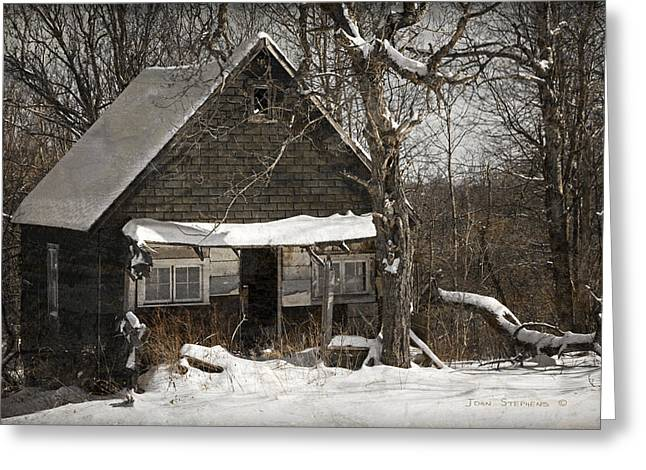 Cabin Window Greeting Cards - Neglected Greeting Card by John Stephens