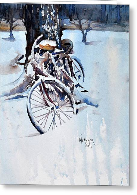 Tandem Bicycle Greeting Cards - Neglected Greeting Card by Spencer Meagher