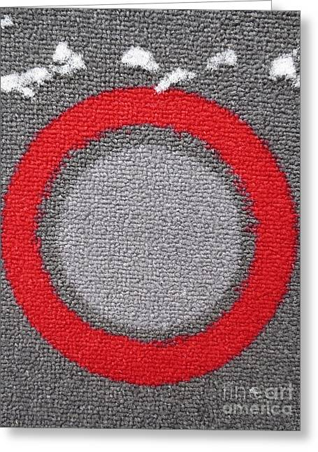Circles Tapestries - Textiles Greeting Cards - Cible / Target Greeting Card by Dominique Fortier