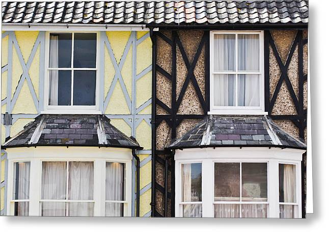 Tiled Greeting Cards - Neighboring houses Greeting Card by Tom Gowanlock
