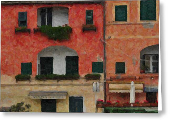 Neighbour Close Greeting Card by Alessandro Martinetti