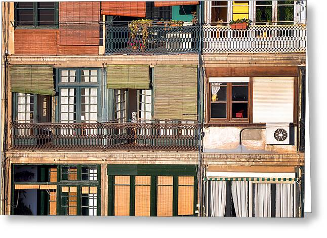 Rear Window Greeting Cards - Neighbours Greeting Card by Delphimages Photo Creations