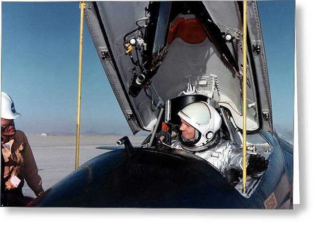 Neil Armstrong As X-15 Test Pilot Greeting Card by Nasa