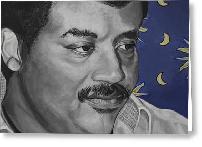 Cosmos Paintings Greeting Cards - Neil deGrasse Tyson Greeting Card by Simon Kregar