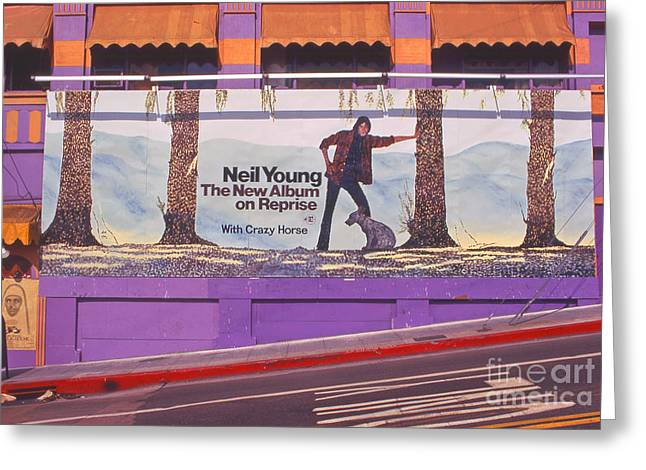 Neil Young Greeting Cards - Neil Young Billboard Greeting Card by Frank Bez