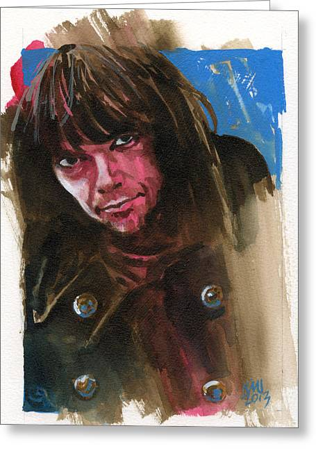Neil Young Greeting Cards - Neil Young Greeting Card by Ken Meyer jr