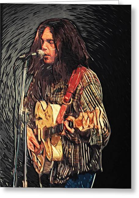 Taylan Soyturk Greeting Cards - Neil Young Greeting Card by Taylan Soyturk
