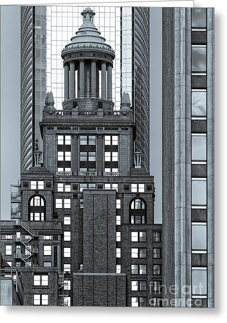 Bank Of America Greeting Cards - Neils Esperson Building in Downtown Houston - Texas Greeting Card by Silvio Ligutti