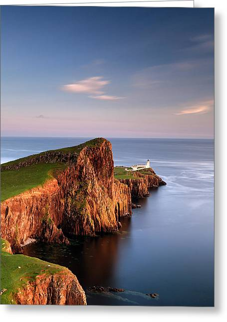 Western Isles Greeting Cards - Neist Point Greeting Card by Grant Glendinning