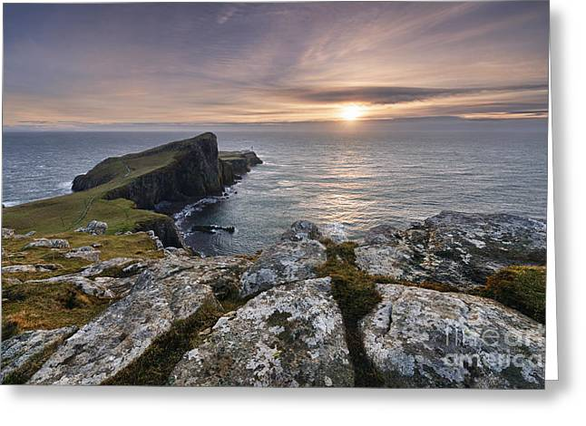 Western Isles Greeting Cards - Neist Point Greeting Card by Rod McLean