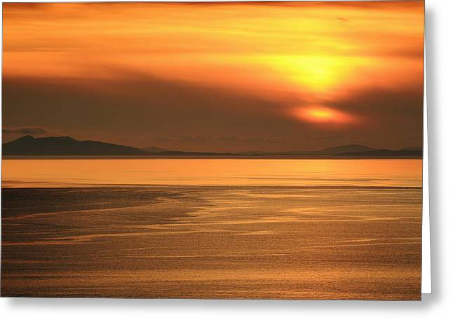 Sunset Prints Greeting Cards - Neist point Sunset Greeting Card by Grant Glendinning