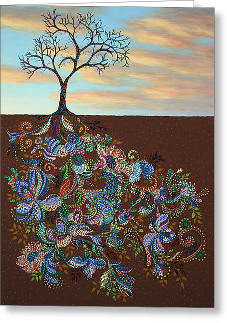 Tree Roots Greeting Cards - Neither Praise Nor Disgrace Greeting Card by James W Johnson