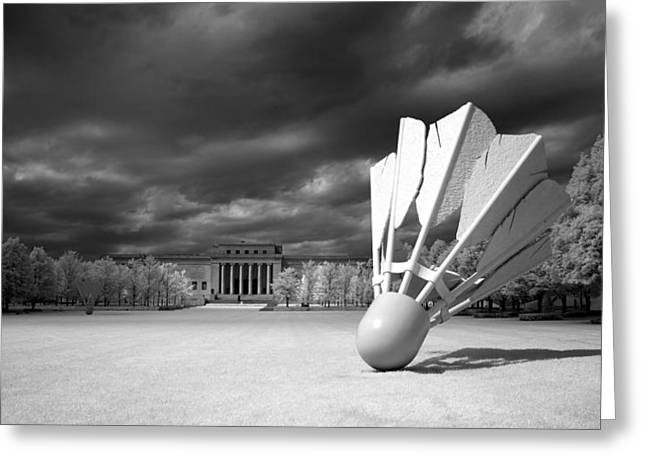 Kansas Landscape Art Greeting Cards - Nelson Akins Art Museum in Infrared Greeting Card by Mountain Dreams