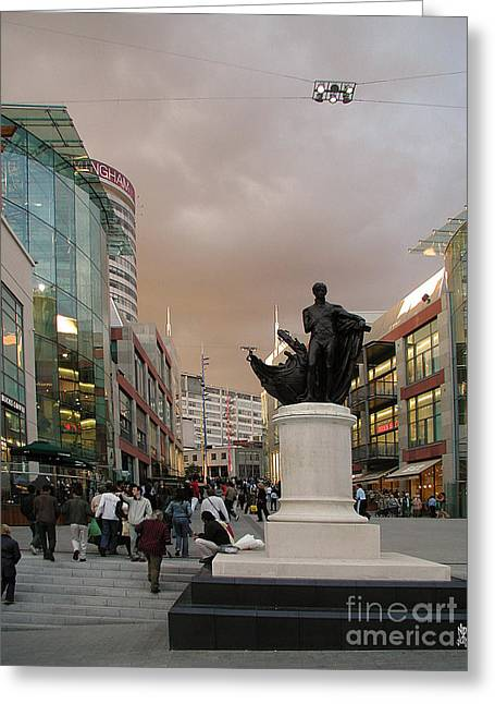 Mound Mixed Media Greeting Cards - Nelson Birmingham Bull Ring Greeting Card by Neil Finnemore