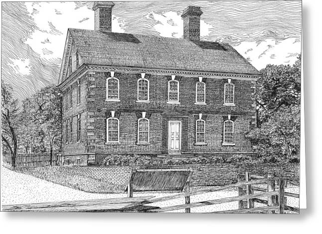 Nelson House In Yorktown Virginia 1 Of 3 Greeting Card by Stephany Elsworth
