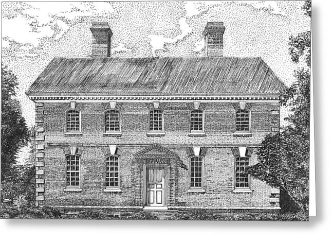 Declaration Of Independence Drawings Greeting Cards - Nelson House in Yorktown Virginia II of III Greeting Card by Stephany Elsworth