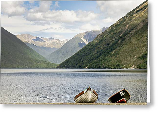 Nelson Lakes New Zealand Greeting Card by Barbara Smith