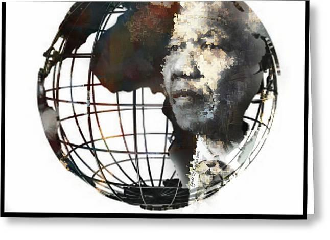 Lynda Payton Greeting Cards - Nelson Mandela - Born to Rule Quote Greeting Card by Lynda Payton
