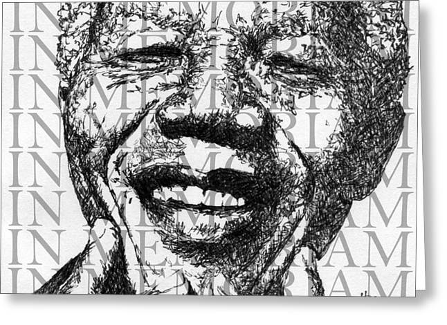 In Memoriam Greeting Cards - Nelson Mandela #2 Greeting Card by Kimmo Matias
