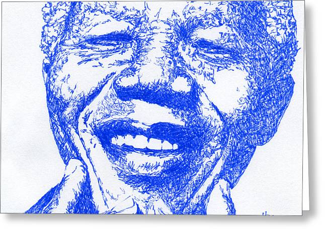 In Memoriam Greeting Cards - Nelson Mandela #3 Greeting Card by Kimmo Matias