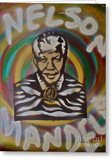99 Percent Greeting Cards - Nelson Mandela Greeting Card by Tony B Conscious