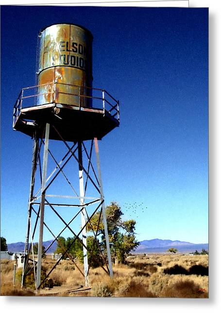 Movie Prop Digital Greeting Cards - Nelson Studio  Color - Lucerne Valley Greeting Card by Glenn McCarthy Art and Photography