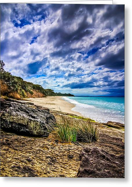 Jervis Greeting Cards - Nelsons Beach Greeting Card by Les Boucher