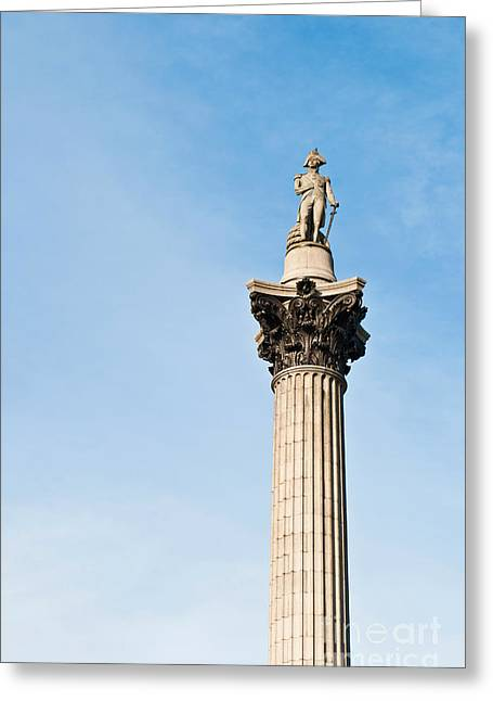 Lord Admiral Nelson Greeting Cards - Nelsons Column Greeting Card by Luis Alvarenga