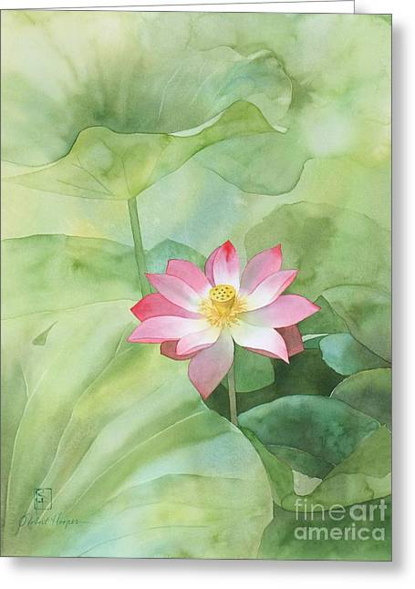 Lotus Flowers Greeting Cards - Nelumbo Greeting Card by Robert Hooper