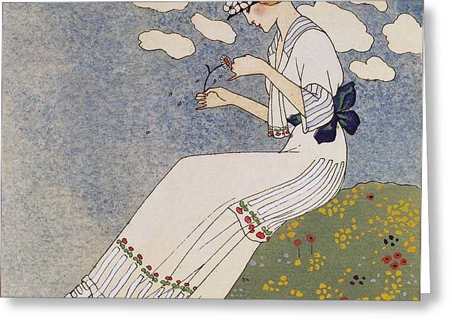 N'en Dites Rien Greeting Card by Georges Barbier