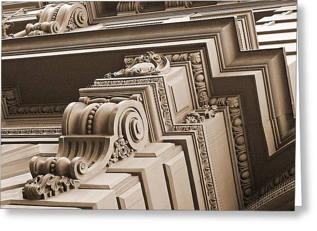 Greek Friezes Greeting Cards - Neo-Classical Architecture Greeting Card by Connie Fox