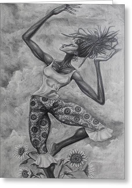 Neo Drawings Greeting Cards - Neo-Soullirina Greeting Card by The Art of DionJa